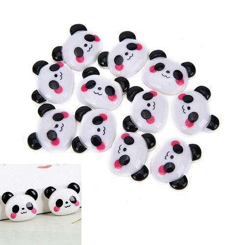 10 шт. Смола Flatback плоской задней кабошон Kawaii Panda DIY Craft украшение для волос Лук Скрапбукинг Интимные аксессуары