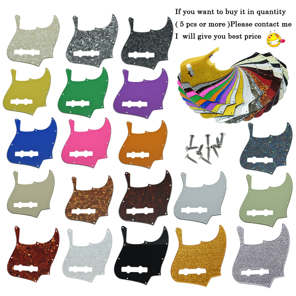 KAISH Standard Jazz J Bass Pickguard with screws Scrach Plate Various Colors bass pickguard musicman stingray mm4 scratch plate with screws for music man mm2 4 string guitar parts various colors
