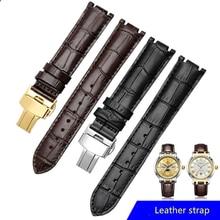 Watch Band Strap16mm 20mm for 5565 5566 men women watch strap cowhide Genuine leather bracelet butterfly buckle Watchband все цены