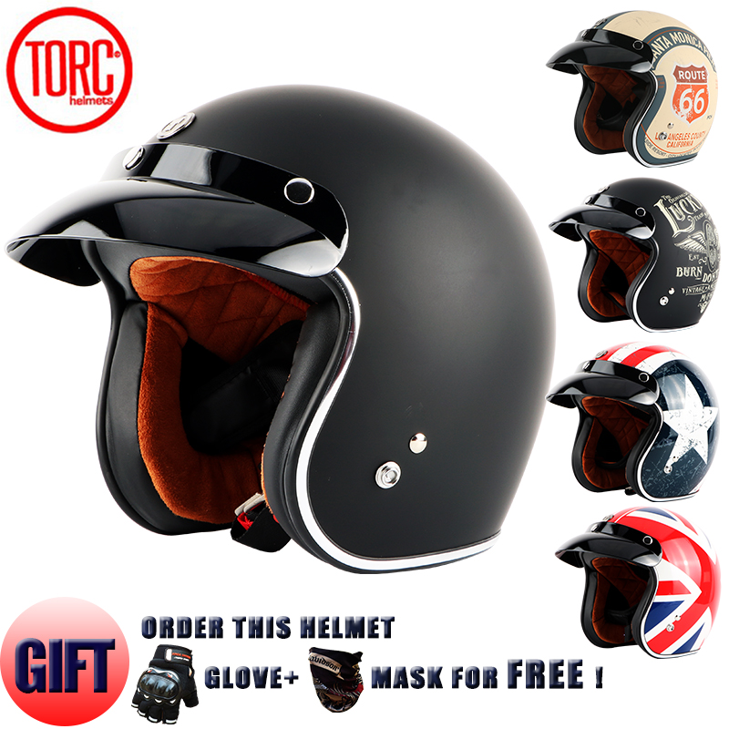TORC Vintage helmet motorcycle motorbike motocross helmet Capacete Casco open face jet retro scooter helmet Protective DOT T50 2017 new ece certification ls2 motocross motorcycle helmet ff352 full face motorbike helmets made of abs and pc silver decadent