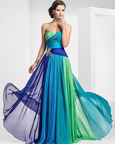 Popular Peacock Blue Prom Dress-Buy Cheap Peacock Blue Prom Dress ...