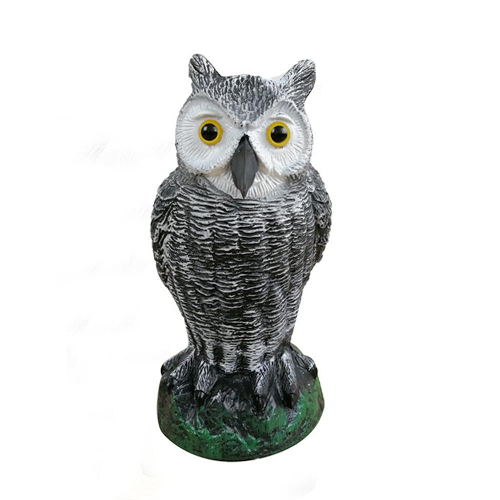 Realistic Bird Scarer Rotating Head Sound Owl Prowler Decoy Protection Repellent Pest Control Scarecrow Garden Yard Ornament(China)
