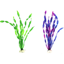 Purple Green Eco-Friendly Artificial Fake Aquarium Submarine Green Grass Fish Tank Ornament Water Plant Decoration(China)