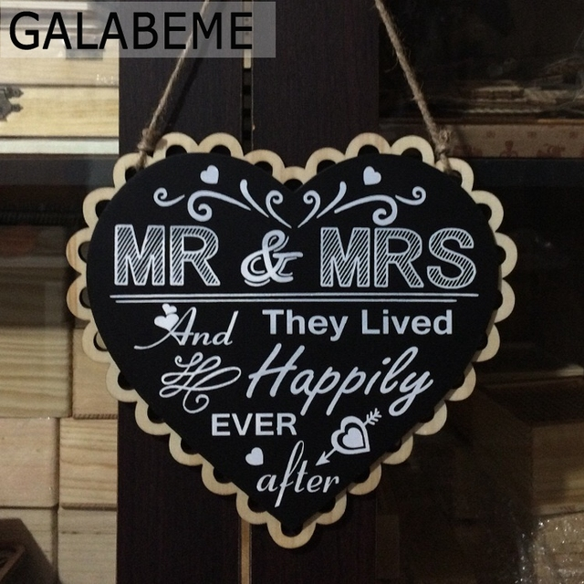 Wooden Wedding Signs.Galabeme 1pcs Wooden Wedding Signs Sweet Heart Shape Blackboard Photo Props Hanging Rustic Wedding Decor