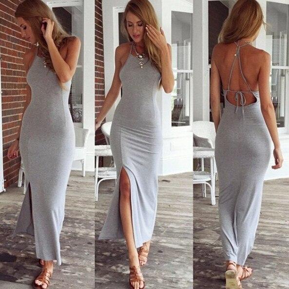 3bf142fdc Vestido gris largo ajustado – Vestidos de fiesta