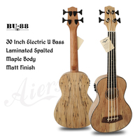 Aiersi brand Spalted Maple U bass 30 Inch Electric Bass Ukulele Ukelele