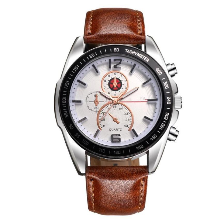 Mens Watches Top Brand Luxury Quartz Watch Business Dress Leather Strap Watch Male Wristwatches Quartz-Watch Relogio Masculino mens watches top brand luxury quartz oukeshi fashion casual business watch male wristwatches quartz watch relogio masculino
