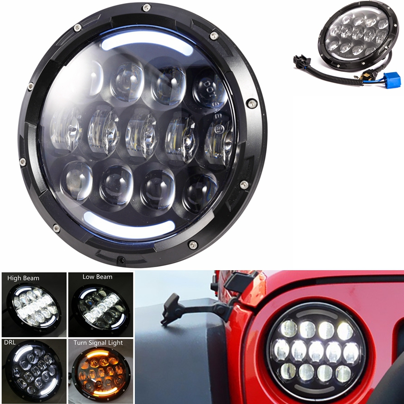 DOT E mark Mark 105W 7 inch round headlight Led for Jeep Wrangler Hummer 4X4 4WD