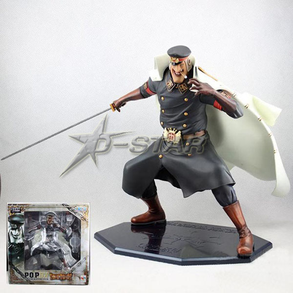 EMS Shipping Big Cool 9 One Piece P.O.P DX Shiliew of the Rain - The Head Jailer Boxed PVC Action Figure Collection Model Toy brand new portrait of pirates one piece roronoa zoro 23cm pvc cool cartoon action figure model toy for gift kids free shipping
