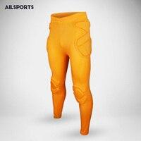 2017 Yeni Profesyonel Futbol Eğitimi Pantolon Kaleci Kitleri Erkekler Sünger Ince Sıska Futbol pantolon Goal Keeper Kaleci Spor