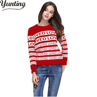 Luxury Brand Sweater Women 2019 High Quality Runway Sweater With Letters Embroidery Striped Sweater Pullovers