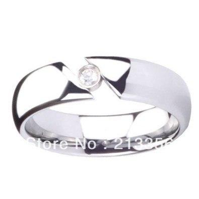 2 pièces/paire livraison gratuite pas cher prix USA vente chaude 8mm carbure de tungstène cubique zircone Tension mariage unisexe anneau de mariage - 5