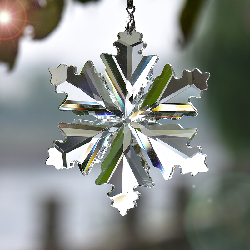 christmas tree decorations crystal car interior pendant snowflake home decoration new year decor. Black Bedroom Furniture Sets. Home Design Ideas