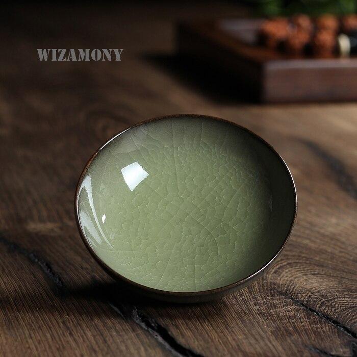 Китайский Longquan Топ Класс Celadon во сто крат треск Китай Чай чашки Чай чаша 60 мл для Книги по искусству Collection by национальном уровне книги по иску