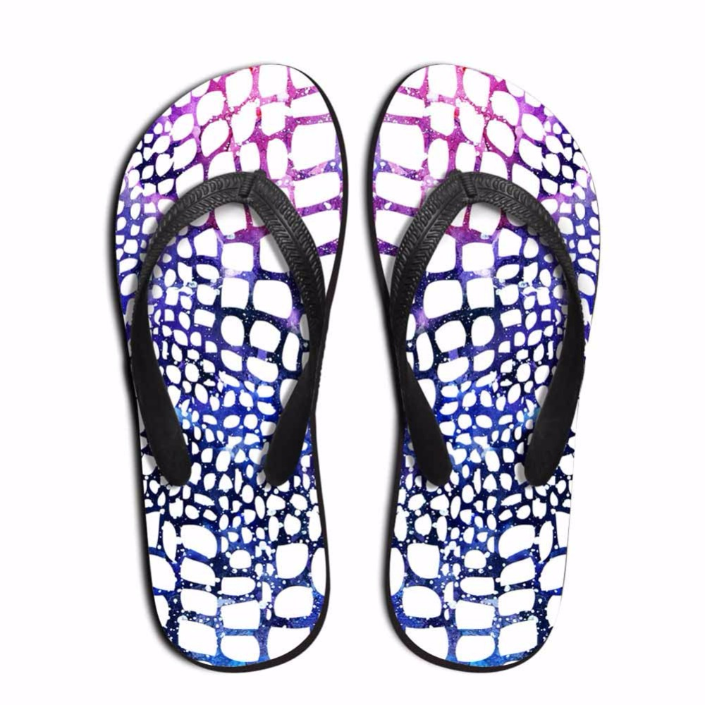 Noisydesigns Multi-color leopard zebra pattern Men custom flip flops - Kasut lelaki