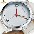 Women Watch KINGSKY Luxury Top Brand Casual Business Watch Men Clock Leather White Simple Fashion Watch Ladies Relogio Feminino