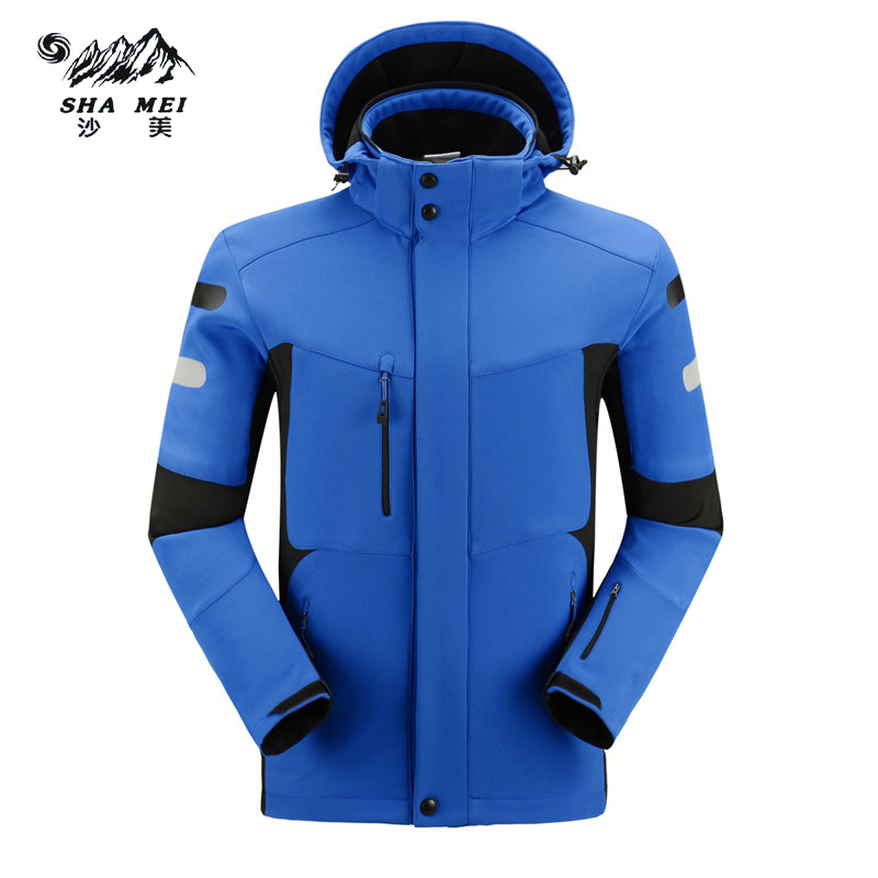 2017  Brand hiking Outdoor Softshell Jacket Men Jacket Waterproof Windproof Super Quality Thermal Jacket For Hiking Camping Ski
