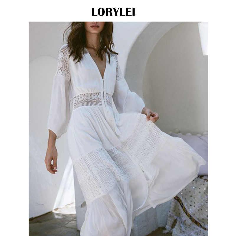 Elegant Women Cotton Tunic Summer Fashion Long Beach Dress Sexy Patchwork  Short Sleeve Front Open White 35e5f168aa40