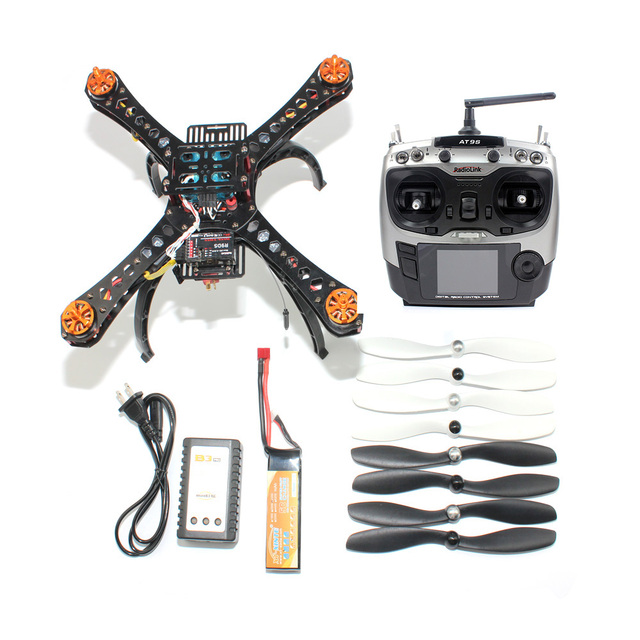 Full Kit DIY Mini Racing Drone 310 Fiberglass Frame Racer Helicopter MICRO F3 Flight Controller AT9S