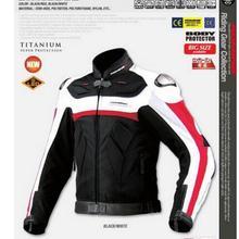 Новая одежда Komine jk021 из титановой кожи, автомобильная одежда для ралли, мотоциклетная куртка, 9