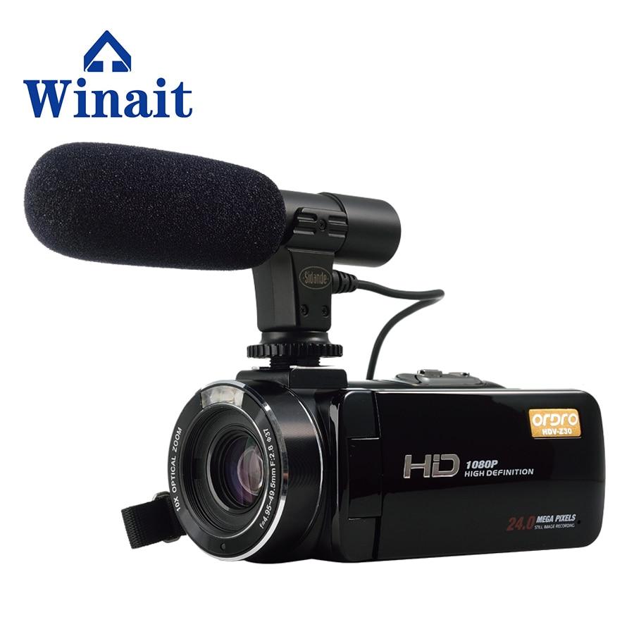 Plein 1080 P HD Numérique Caméra Vidéo Caméscope Numérique 16x Zoom Appareil Photo Professionnel 24 Mega Pixels HDV-Z20 Freeshipping