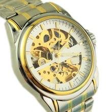 Simple elegante de gama alta de Moda de Corea del Negocio de los hombres de los relojes de doble cara huecos relojes mecánicos Automáticos de acero Relogio