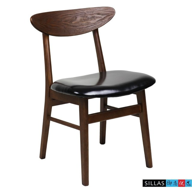 Retro Cafe Dining Chairs Stretch Chair Covers Nz Nordic Korean Black Walnut Wood Neoclassical Simple Bar Restaurant