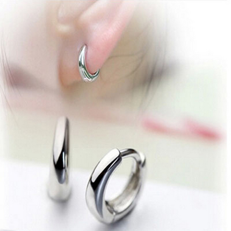 2017 Silver Filled Small Hoop Earrings For Women Men Cool Korean Huggies S Simple Fine Jewelry Whole In From