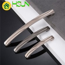 Zinc Alloy Handle European Cupboard Modern Concise Silver Grey Electroplate Wardrobe Drawer Hardware