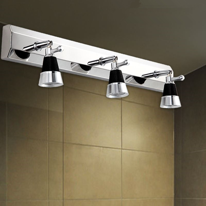 2/3 plugs modern stainless steel bathroom mirror lights ...