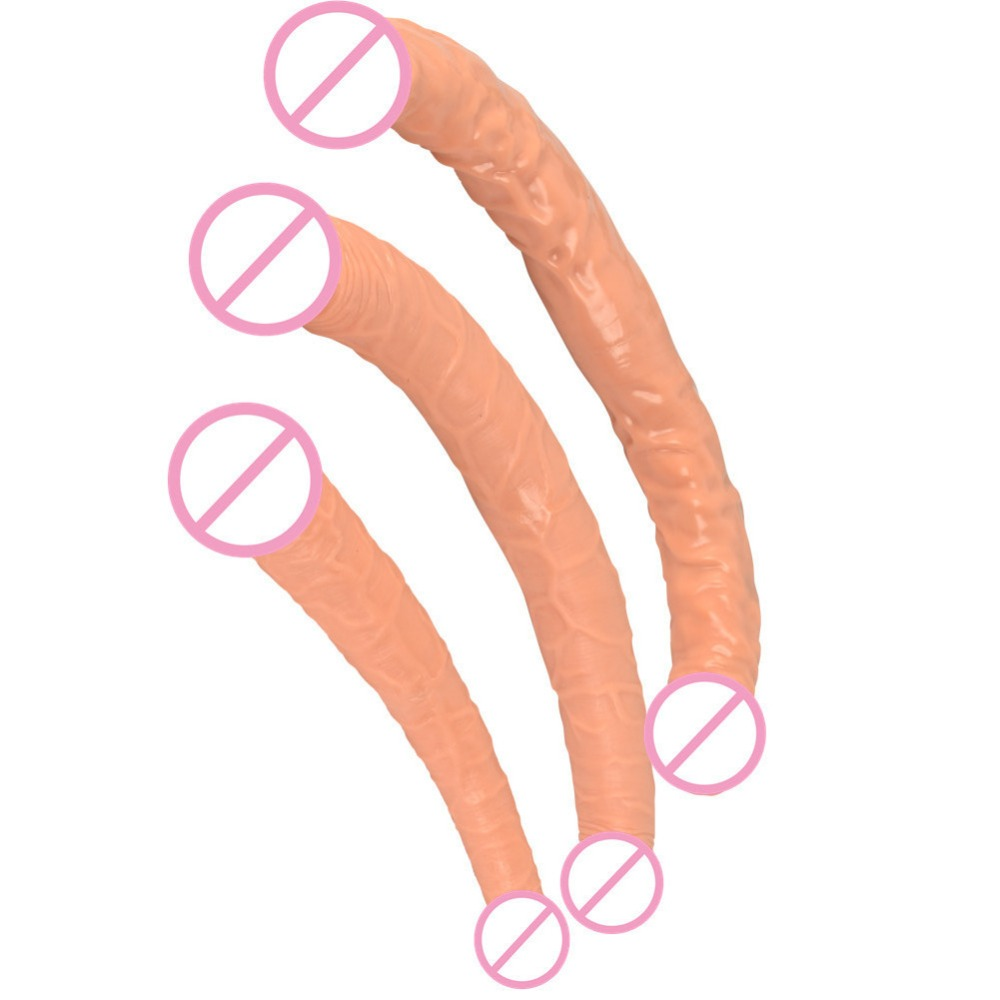 Double Dong Dildo Lesbian Sex Toys For Women Double Ended Dildo Gode Gay Long Huge Dildo Realistic Penis 3 Size Double Dildos long double dildo double dong huge dildo realistic male artificial penis dildo gay adult sex toys for women lesbian double ended