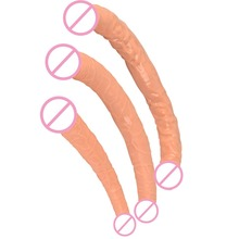 Double Dong Dildo Lesbian Sex Toys For Women Double Ended Dildo Gode Gay Long Huge Dildo Realistic Penis 3 Size Double Dildos