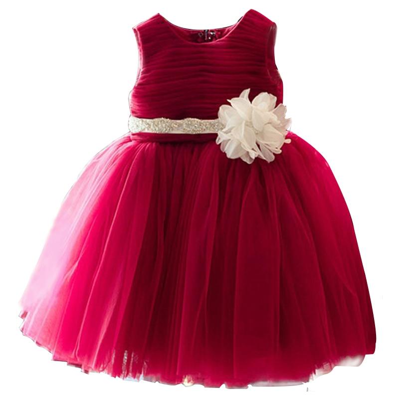 children lace flower princess girl dress for wedding