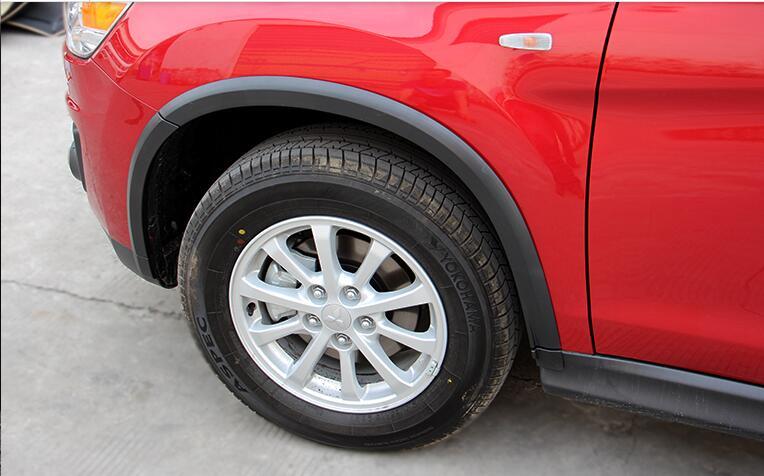 For Mitsubishi ASX/Outlander Sport/RVR 2013 2014 2015 Exterior Wheel Fender Flare Extension Arches Black 16pcs accessories for mitsubishi mitsubishi asx outlander sport rvr 2011 2012 2013 chrome car door handle cover exterior accessories