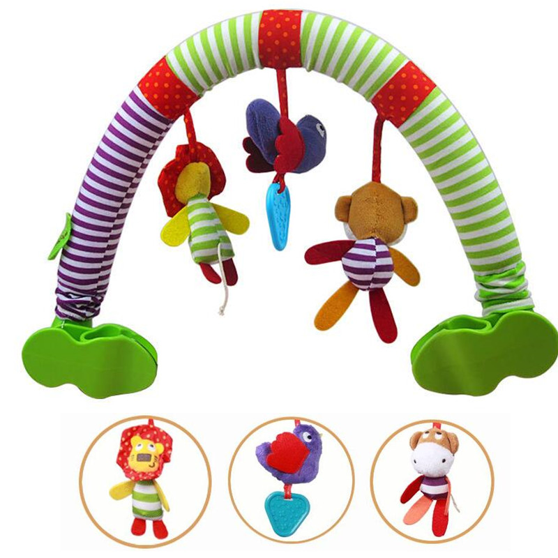 többfunkciós baba babakocsi autó klip eszterga lóg Rattle Bell állat pamut plüss játék bb eszköz fogó 20% kedvezmény