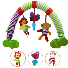 multifunction baby stroller car clip lathe hanging Rattle Bell Animal Cotton plush toy bb device teether 20%Off