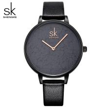 SK quartz-watch Women Super Slim Leather Luxury Fashion Casual Unique Lady Top Brand Quartz Waterproof Wrist Watch relogio New