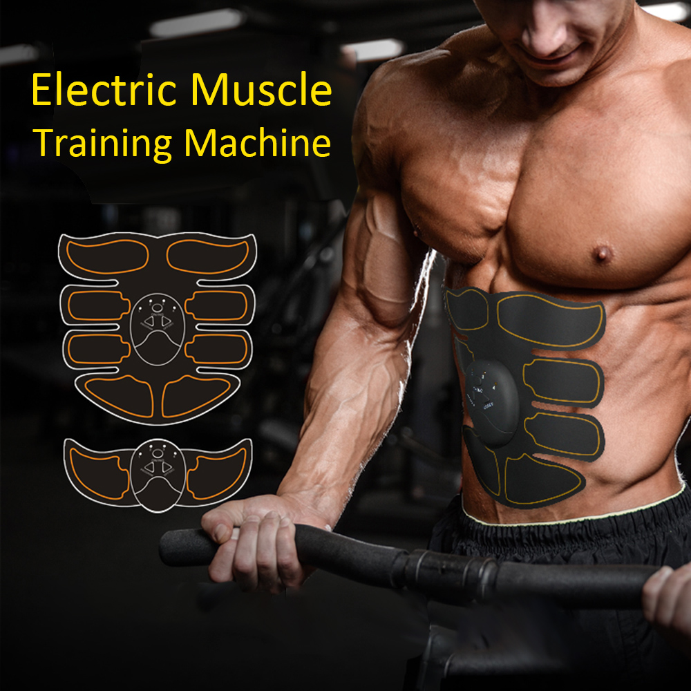 Exercise Training Machine Abdominal Arm Muscle Trainer Electric Muscle Stimulato Body Slimming Exerciser Body Building Massager