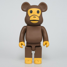 Виниловая кукла аниме Рисунок жестокий медведь милые строительный блок медведь череп голова орангутанг Пижама рука модель фигурка куклы для маленьких детей игрушка