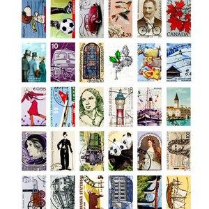Image 5 - 4 paquets/lot Original en boîte cartes postales Vintage timbres créatifs bricolage cadeau danniversaire carte postale et pour carte de voeux