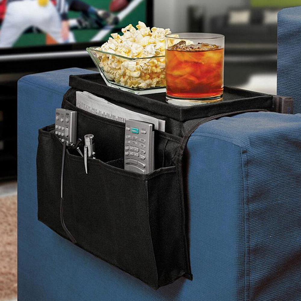 6 Pockets Sofa Handrail Couch Armrest Arm Rest Organizer Remote Control Holder Bag On TV Sofa