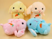 10pcs  Fashion Rabbit Plush Toy Key Chains Ring Women Keychain Bag Charms Fur Pompom Car Keyring Party Gift Trinket
