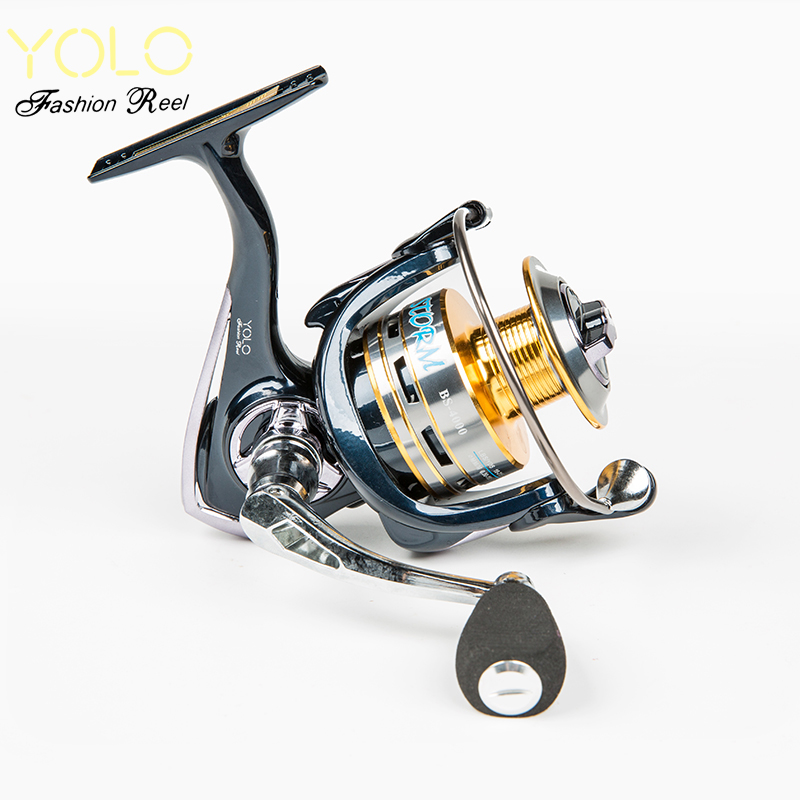 YOLO New Fishing Reel 10+1BB 5.1:5 BS2000-6000 Aluminium alloy spool High Strength Engineering Nylon Spinning Carp pes Fishing