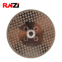 Raizi 125/175mm Electroplated Wet/Dry Diamond Marble Cutting Grinding Circular Disc Saw Blade For Stone with 5 8 11/M14