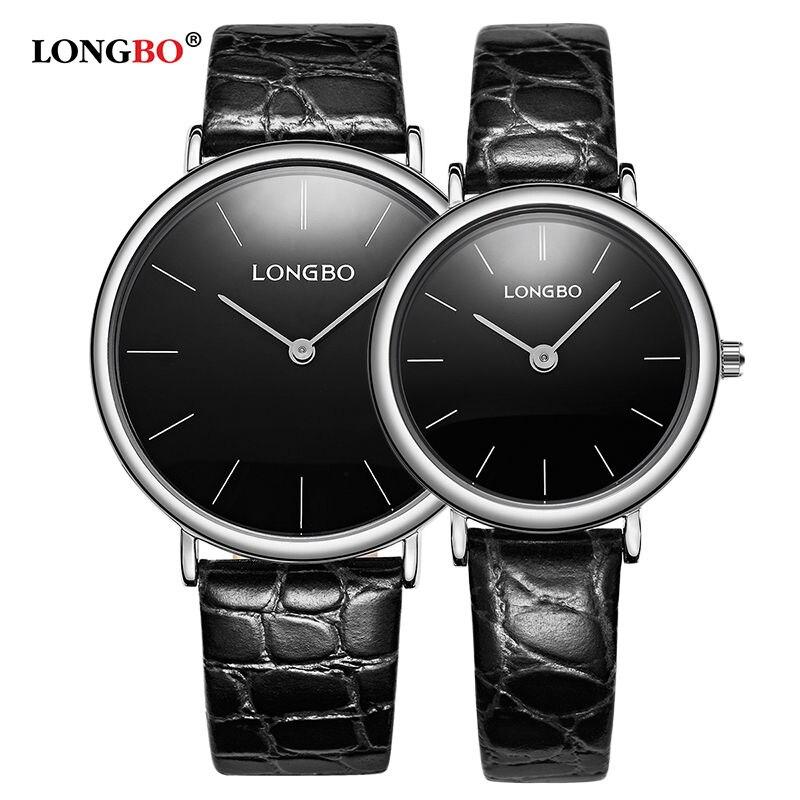 LONGBO Couple Watch Men Women Watches Simple Quartz Leather