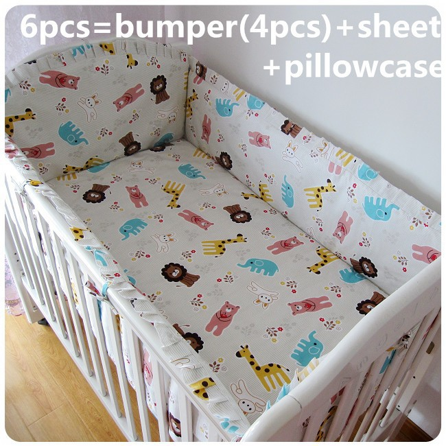Promotion! 6/7PCS Baby bedding set crib bedding set 100% cotton bedclothes bed decoration ,120*60/120*70cm