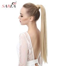 SARLA 24 28 Wrap syntetyczne ponytail przedłużania włosów ponytail Hair Clip kucyk WIG Pony tail flase hairpiece włosy ogon włosy tanie tanio Tylko 1 sztuka Clip-in Proste 120g szt Czysty kolor Włókno wysokotemperaturowe Japonia wysokiej temperatury Fiber (wygląda naturalnie jak ludzkie włosy)