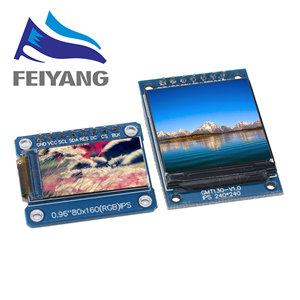 TFT عرض 0.96/1.3 1.44 بوصة IPS 7P SPI HD 65K كامل اللون وحدة LCD ST7735 محرك IC 80*160 (لا OLED) لاردوينو