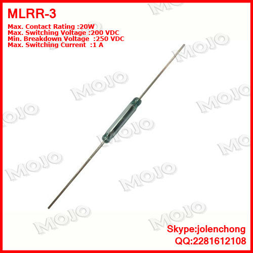 Бесплатная Доставка! Бесплатная доставка MDRR-DT США Хэмлин геркон 2,5X14 мм nc/N.O зеленое стекло 3 фута герметичный Герконы