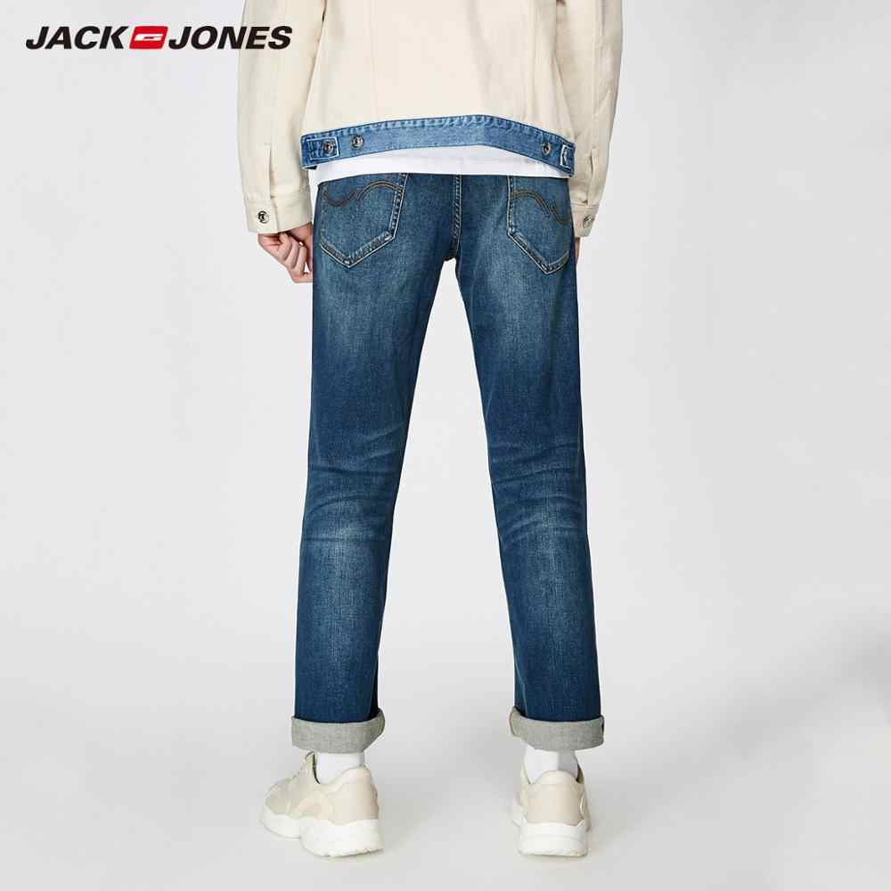 JackJones 2019 新メンズストレッチジーンズ男性弾性コットンパンツルーズフィットデニムズボンメンズブランドファッション摩耗 219132584